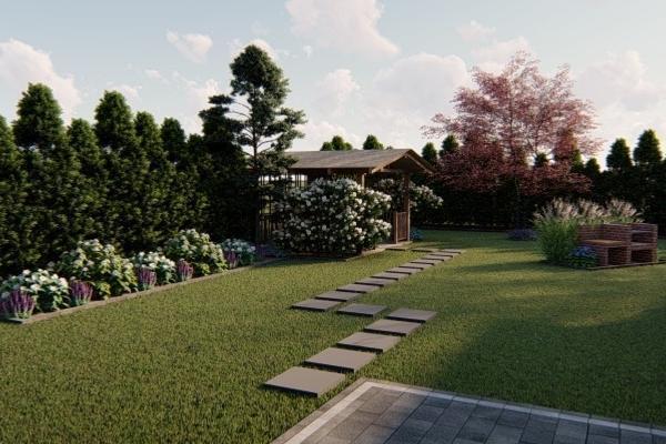 Sekwoja Garden mała architektura ogrodowa